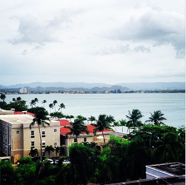 The view from Old San Juan